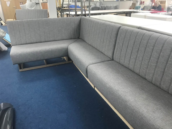 Bespoke seating and upholstery for a cocktail bar