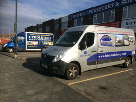 Our Bristol based showroom and delivery van