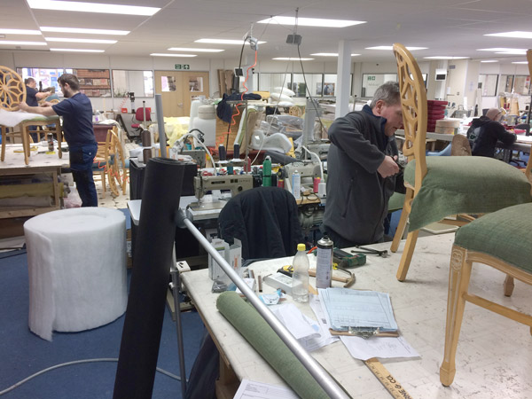 Another view of our Bristol based upholstery factory workshop