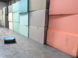 Our foam stored on the premises