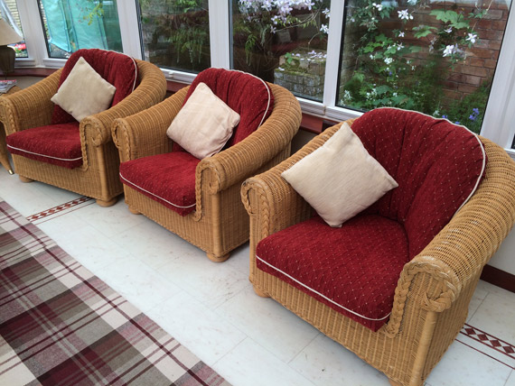 New cushions for wicker armchairs