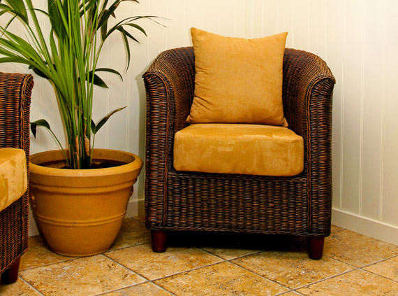 Cushions for wicker conservatory furniture