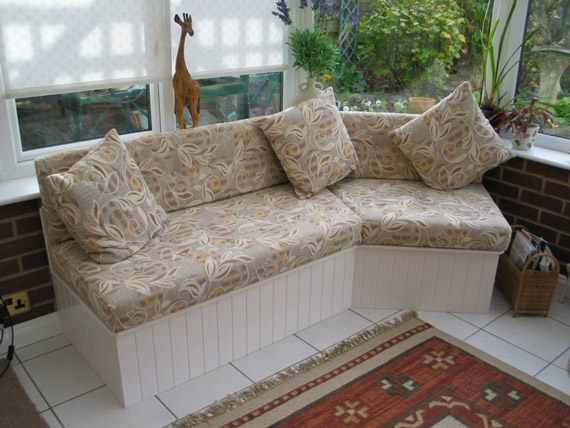 Fixed conservatory furniture and window seat cushions no problem