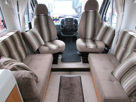 Motorhome interior seat re-upholstery and new foam cushions