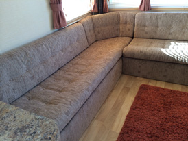 Static caravan re-upholstery