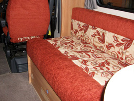 A re-upholstered Motorhome interior