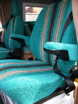 Re-upholstered Motorhome cab seats