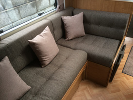 Matching upholstery and cushions