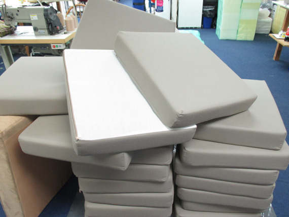 Outdoor cushions ready for despatch to customers