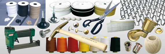 A wide range of upholstery accessories, supplies & sundries