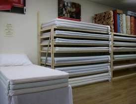 Our showroom foam mattress selector
